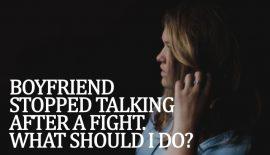 first bad fight with boyfriend