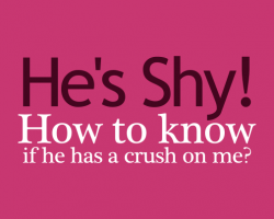 Signs that a shy guy likes you